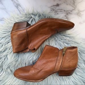 Sam Edelman Petty Brown Leather Ankle Bootie